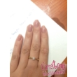 E2FS - SMARAGD köves fehér arany Eljegyzési Gyűrű