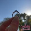 E2FR - RUBIN köves fehér arany Eljegyzési Gyűrű