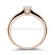 E2RB23 - GYÉMÁNT:  0.23 CT (=3.9mm Ø) Eljegyzési Gyűrű