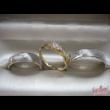 E301FC - CIRKÓNIA köves fehér arany Eljegyzési Gyűrű