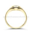 E302SC - CIRKÓNIA köves sárga arany Eljegyzési Gyűrű