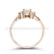 E304RC - CIRKÓNIA köves rozé arany Eljegyzési Gyűrű