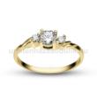 E304SC - CIRKÓNIA köves sárga arany Eljegyzési Gyűrű