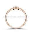E305RB09 - GYÉMÁNT:  0.09 CT (1.75mm Ø) Eljegyzési Gyűrű