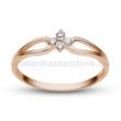 E305RC - CIRKÓNIA köves rozé arany Eljegyzési Gyűrű