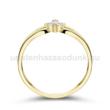 E305SC - CIRKÓNIA köves sárga arany Eljegyzési Gyűrű
