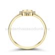 E308SB14 - GYÉMÁNT:  0.14 CT (2.0mm Ø) Eljegyzési Gyűrű