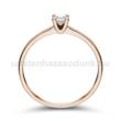 E309RC - CIRKÓNIA köves rozé arany Eljegyzési Gyűrű