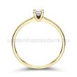 E309SC - CIRKÓNIA köves sárga arany Eljegyzési Gyűrű