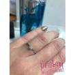 E309FC - CIRKÓNIA köves fehér arany Eljegyzési Gyűrű