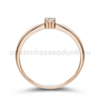 E30RB07 - GYÉMÁNT:  0.07 CT (=2.6mm Ø) Eljegyzési Gyűrű