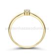 E30SB07 - GYÉMÁNT:  0.07 CT (=2.6mm Ø) Eljegyzési Gyűrű