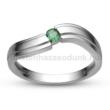 E325FS - SMARAGD Eljegyzési gyűrű