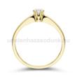 E331SC - CIRKÓNIA köves sárga arany Eljegyzési Gyűrű