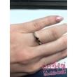 E331FB09 - GYÉMÁNT:  0.09 CT (=2.8mm Ø) Eljegyzési Gyűrű