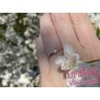 E331FC - CIRKÓNIA köves fehér arany Eljegyzési Gyűrű