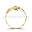 E333SC - CIRKÓNIA köves sárga arany Eljegyzési Gyűrű