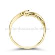 E334SC - CIRKÓNIA köves sárga arany Eljegyzési Gyűrű