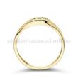 E337SC - CIRKÓNIA köves sárga arany Eljegyzési Gyűrű