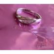 E337RC - CIRKÓNIA köves rozé arany Eljegyzési Gyűrű