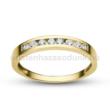 E344SC - CIRKÓNIA köves sárga arany Eljegyzési Gyűrű
