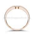E345RC - CIRKÓNIA köves rozé arany Eljegyzési Gyűrű