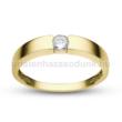 E345SC - CIRKÓNIA köves sárga arany Eljegyzési Gyűrű