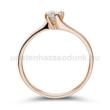 E34RB20 - GYÉMÁNT:  0.20 CT (=3.7mm Ø) Eljegyzési Gyűrű