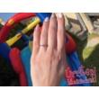 E34FZK - KÉK ZAFÍR köves fehér arany Eljegyzési Gyűrű