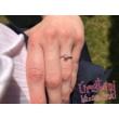 E34FZF - FEHÉR ZAFÍR köves fehér arany Eljegyzési Gyűrű
