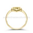 E352SC - CIRKÓNIA köves sárga arany Eljegyzési Gyűrű