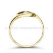 E355SC - CIRKÓNIA köves sárga arany Eljegyzési Gyűrű
