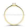 E365SC - CIRKÓNIA köves sárga arany Eljegyzési Gyűrű