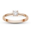 E367RC - CIRKÓNIA köves rozé arany Eljegyzési Gyűrű