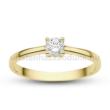 E367SC - CIRKÓNIA köves sárga arany Eljegyzési Gyűrű
