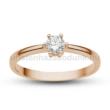 E368RC - CIRKÓNIA köves rozé arany Eljegyzési Gyűrű