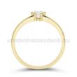 E368SC - CIRKÓNIA köves sárga arany Eljegyzési Gyűrű