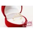 E3FR - RUBIN köves fehér arany Eljegyzési Gyűrű