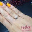 E3RC - CIRKÓNIA köves rozé arany Eljegyzési Gyűrű