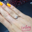 E3FM - AMETISZT köves fehér arany Eljegyzési Gyűrű