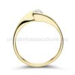 E4SB16 - GYÉMÁNT:  0.16 CT (=3.5mm Ø) Eljegyzési Gyűrű