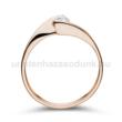E4RB16 - GYÉMÁNT:  0.16 CT (=3.5mm Ø) Eljegyzési Gyűrű