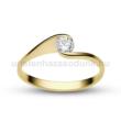 E4SC - CIRKÓNIA köves sárga arany Eljegyzési Gyűrű