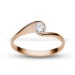 E4RC - CIRKÓNIA köves rozé arany Eljegyzési Gyűrű
