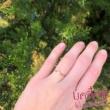 E5FK - AKVAMARIN köves fehér arany Eljegyzési Gyűrű