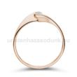 E5RB10 - GYÉMÁNT:  0.10 CT (=2.9mm Ø) Eljegyzési Gyűrű