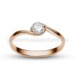 E6RC - CIRKÓNIA köves rozé arany Eljegyzési Gyűrű
