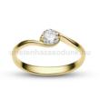 E6SC - CIRKÓNIA köves sárga arany Eljegyzési Gyűrű