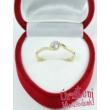 E6FK - AKVAMARIN köves fehér arany Eljegyzési Gyűrű