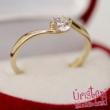 E6FZK - KÉK ZAFÍR köves fehér arany Eljegyzési Gyűrű